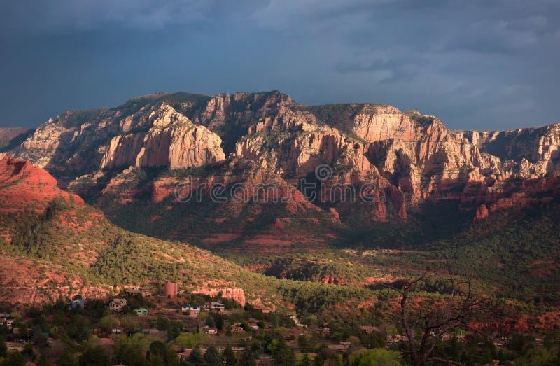 Szenisch übersehen Sie in Sedona, Arizona lizenzfreies stockbild