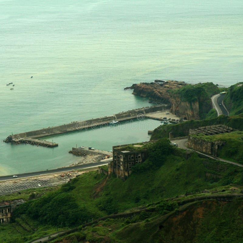 Szenische Ansicht des Hafens stockbild