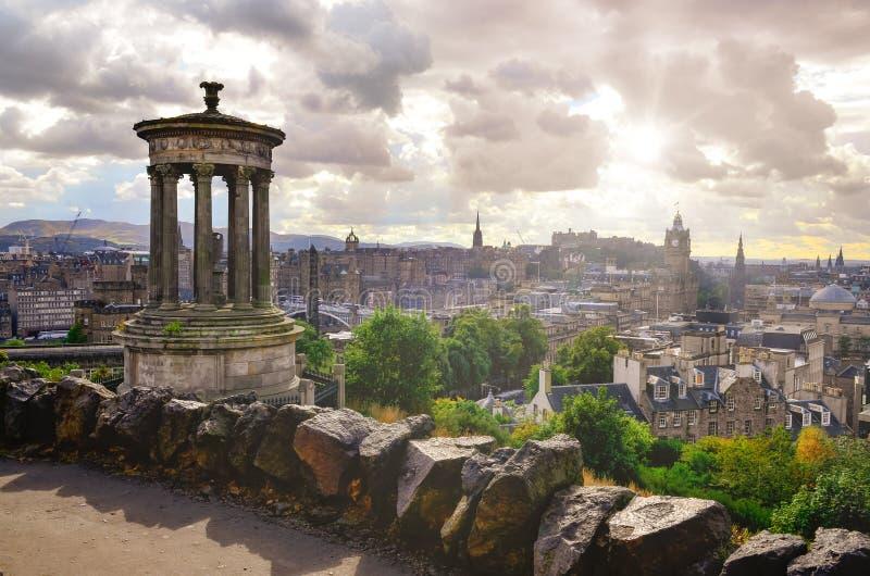Szenische Ansicht von Edinburgh-Skylinen, Schottland lizenzfreie stockbilder