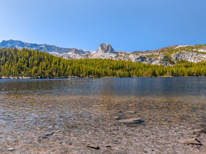 Szenische Ansicht von einem Gebirgssee in Kalifornien lizenzfreie stockfotografie