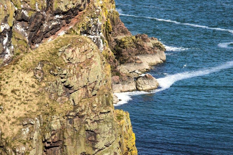 Szenische Ansicht von Longhaven-Klippen in Aberdeenshire, Schottland, Großbritannien stockfotografie