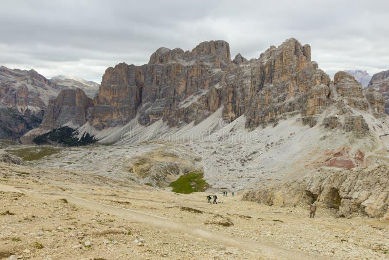 Szenische Ansicht von Passo Falzarego, Dolomit, Italien stockbild
