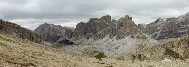 Szenische Ansicht von Passo Falzarego, Dolomit, Italien lizenzfreies stockfoto