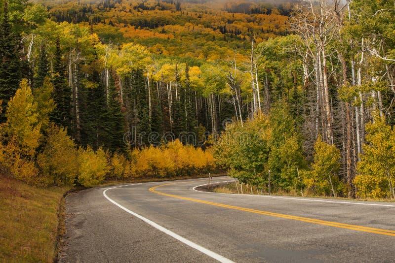 Szenische Ansicht zu den Hochländern auf dem Seitenweg 12 in Utah, USA lizenzfreies stockbild