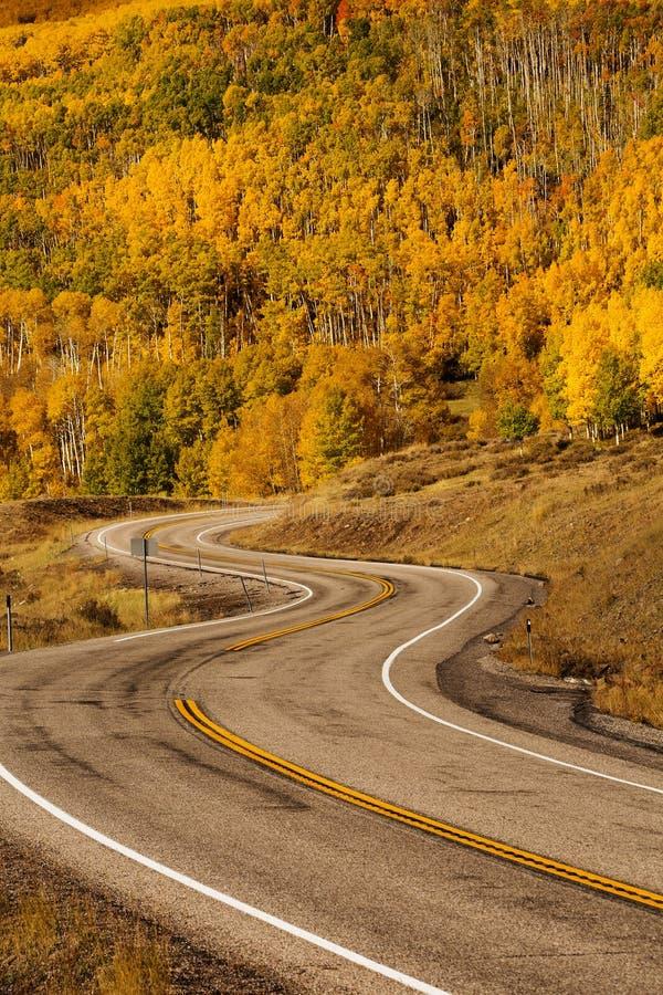 Szenische Ansicht zu den Hochländern auf dem Seitenweg 12 in Utah, USA lizenzfreies stockfoto