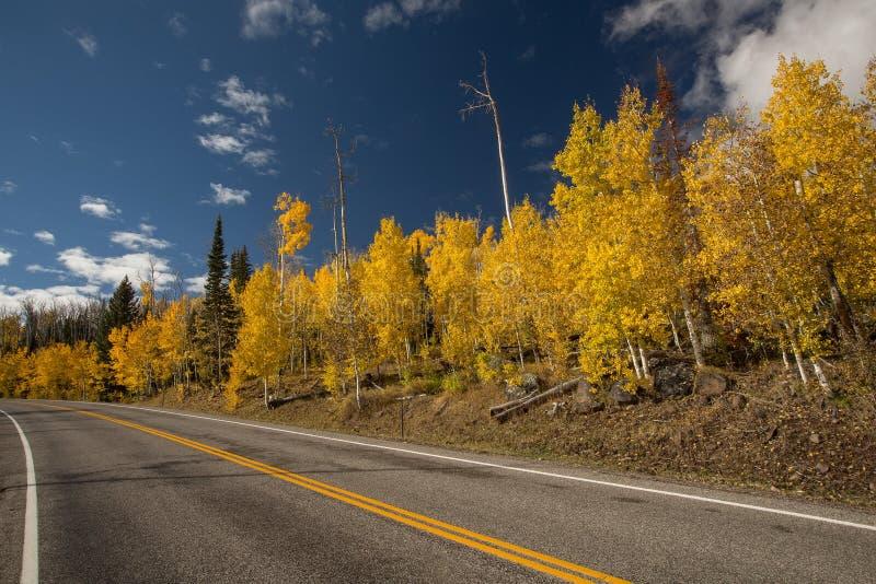 Szenische Ansicht zu den Hochl?ndern auf dem Seitenweg 12 in Utah, USA lizenzfreies stockfoto