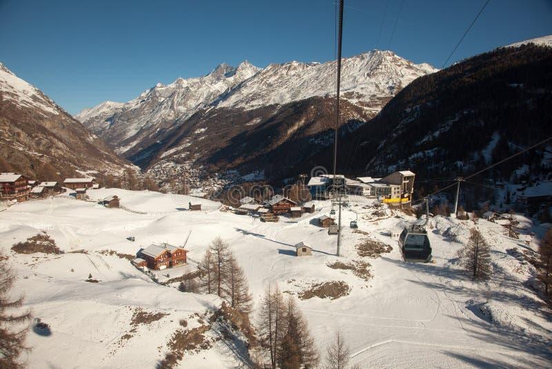 Szenische Ansichten um Zermatt und Matterhorn, die Schweiz lizenzfreie stockfotos
