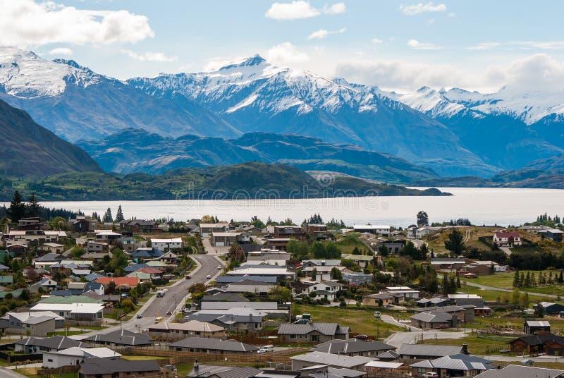 Szenische Berglandschaft Neuseelands am Berg-Eisen lizenzfreies stockbild