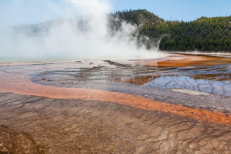 Szenische geothermische heiße Quellen Yellowstone lizenzfreie stockfotos