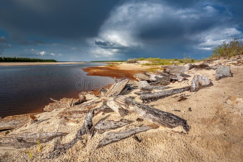 Szenische Landschaft der Natur in Sibirien, die Yamal-Halbinsel lizenzfreies stockbild