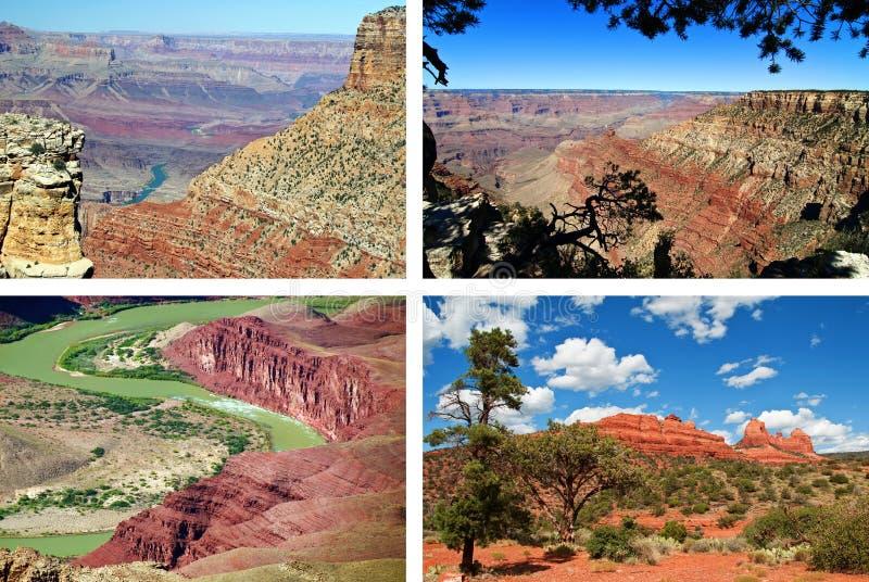 Szenische Landschaft des roten Sandsteins vom Grand Canyon lizenzfreie stockfotografie