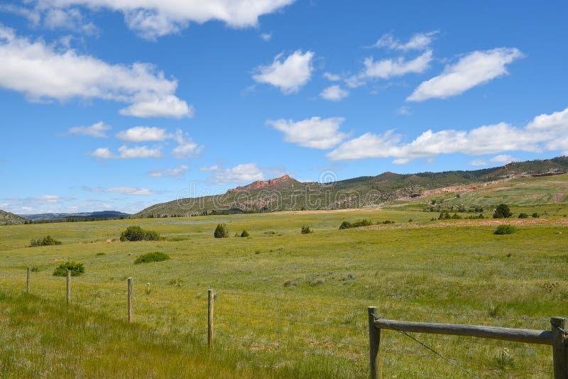 Szenische Landschaft Wyoming lizenzfreie stockfotos
