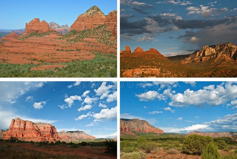 Szenische Landschaften des roten Sandsteins vom sedona stockbild