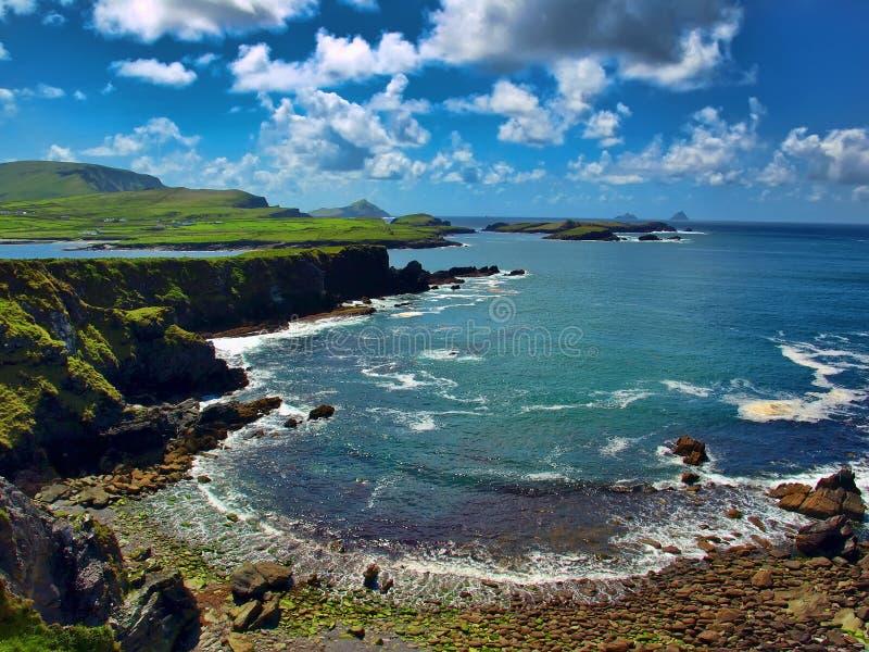 Szenische Sicherung vom Ring von Kerry, Irland lizenzfreies stockbild