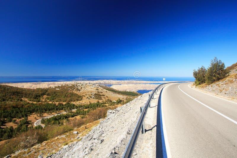 Szenische Straße in Kroatien stockfotos