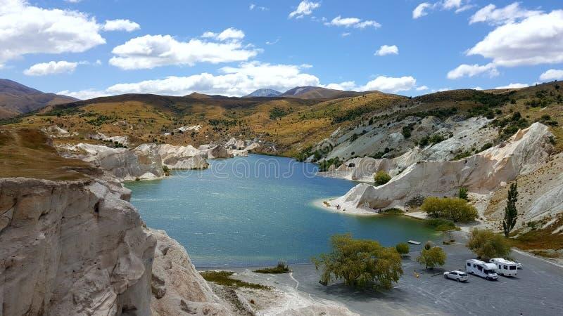 Szenische surreale Landschaft in Neuseeland lizenzfreie stockfotografie