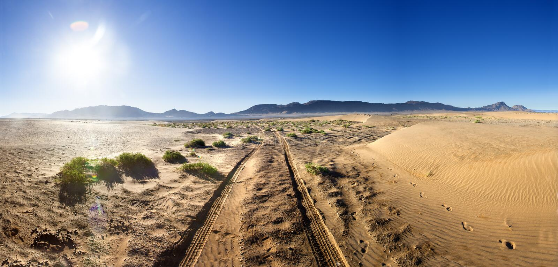 Szenische Wüstenlandschaft Reiselebensstil stockbilder