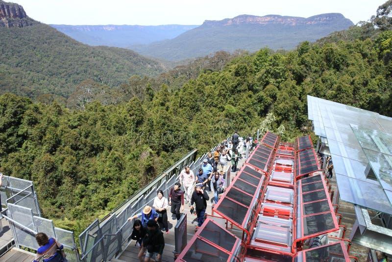 Szenische Weltszenische Eisenbahn New South Wales Australien Katoomba lizenzfreie stockbilder