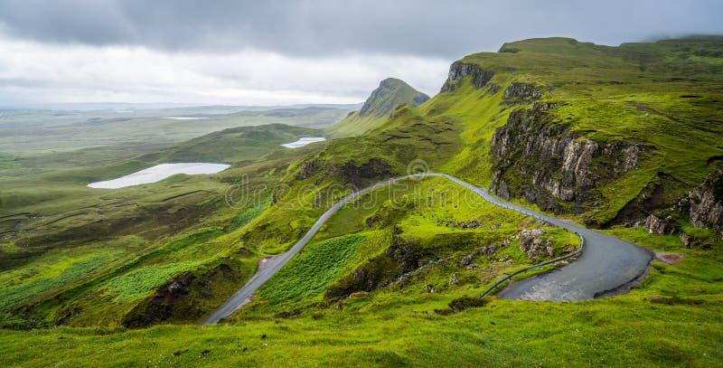 Szenischer Anblick des Quiraing, Insel von Skye, Schottland lizenzfreie stockfotos