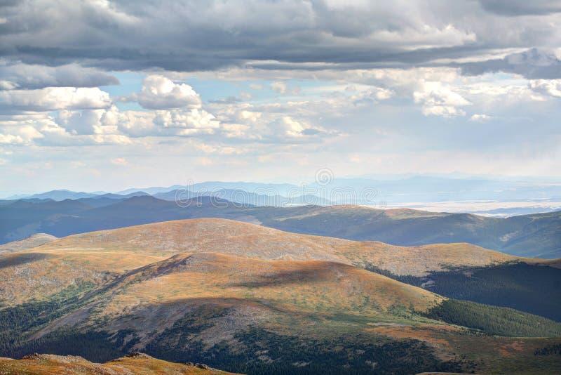 Szenischer Bergblick Mt Evans Colorado stockfotos