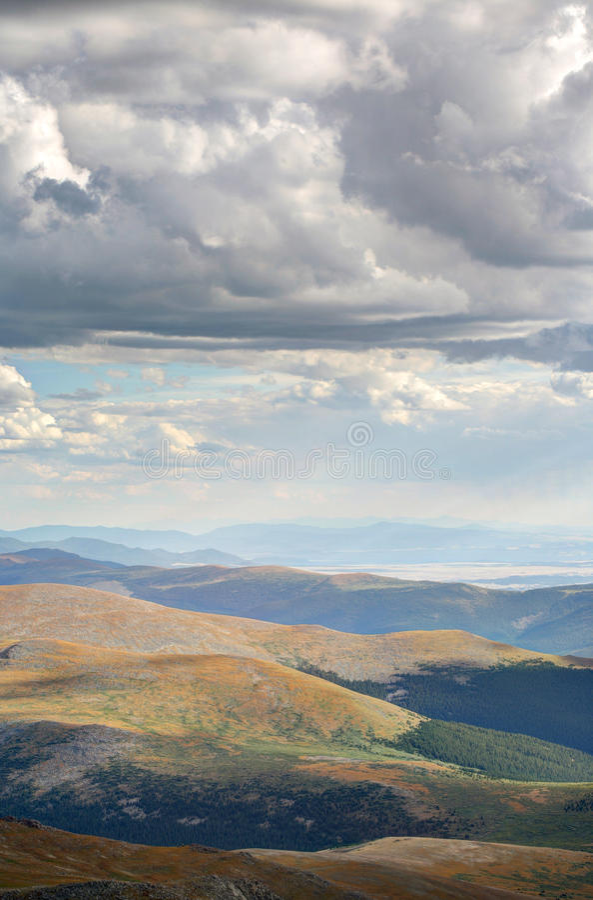 Szenischer Bergblick Mt Evans Colorado stockbild
