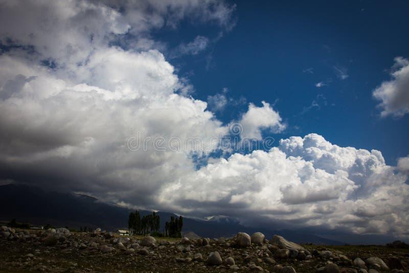 Szenischer Berglandschaftsschuß Neuseelands am Berg-Koch stockfoto