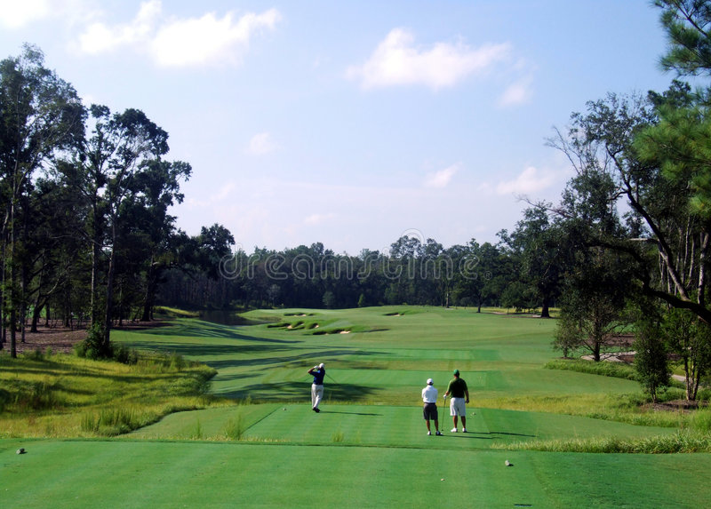 Szenischer Golfplatz Stockbild