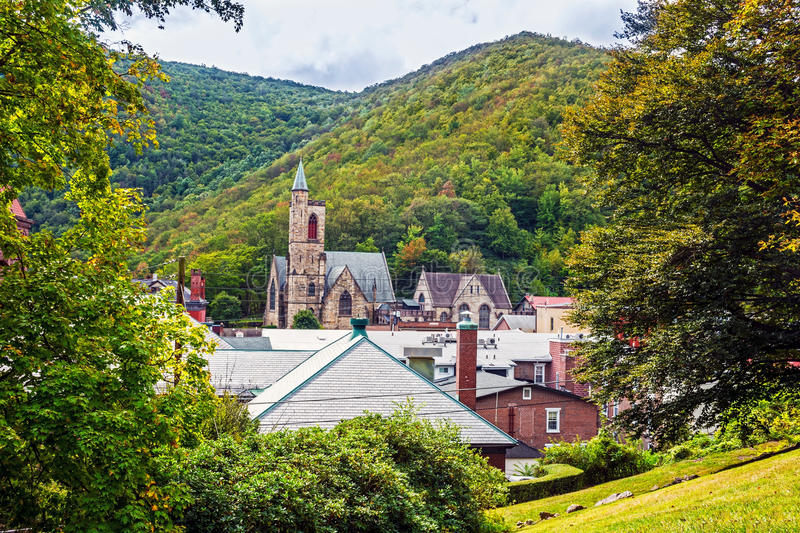 Szenischer Jim Thorpe Pennsylvania stockfotografie