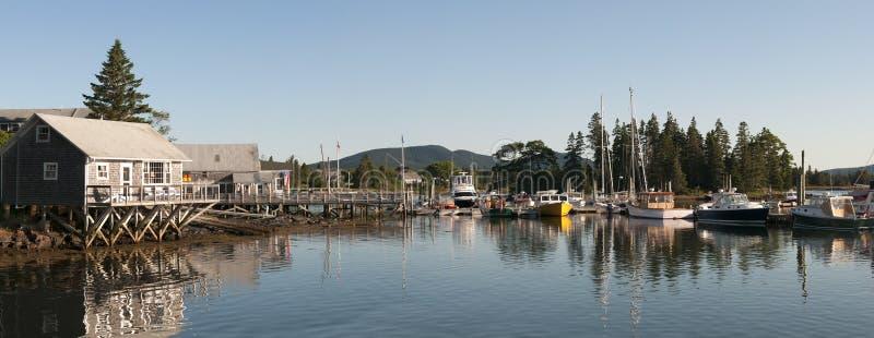 Szenischer Maine-Hafen stockbilder