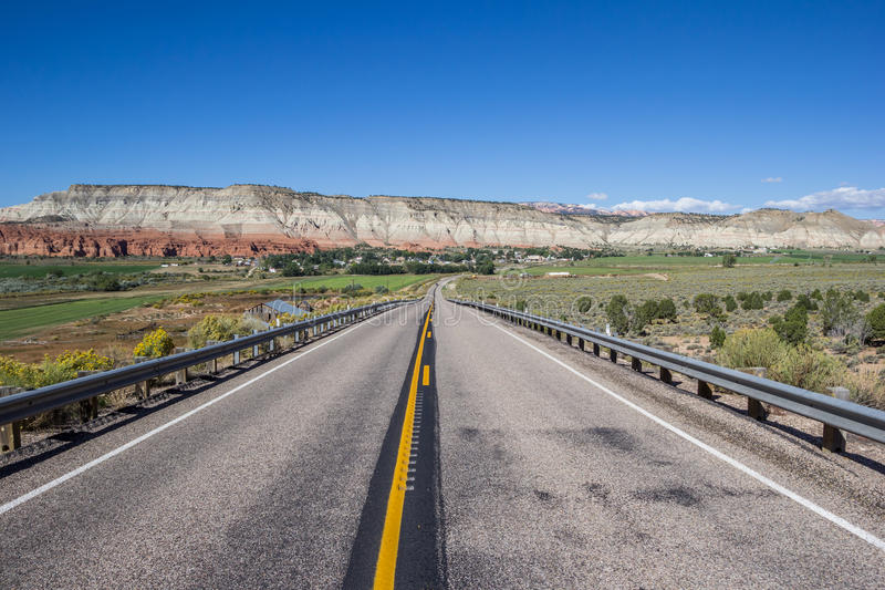 Szenischer Seitenweg 12 in Utah, USA lizenzfreie stockfotografie