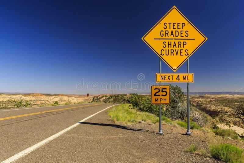 Szenischer Seitenweg 12, Utah, USA stockbilder
