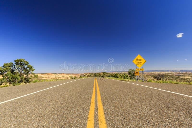 Szenischer Seitenweg 12, Utah, USA lizenzfreie stockbilder