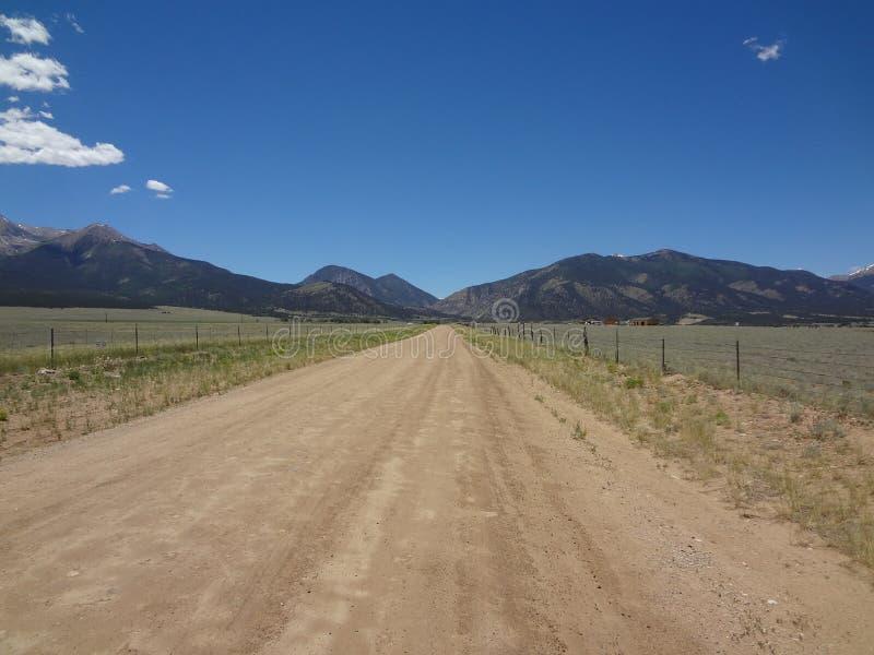 Szenischer Weg Colorados stockfotos
