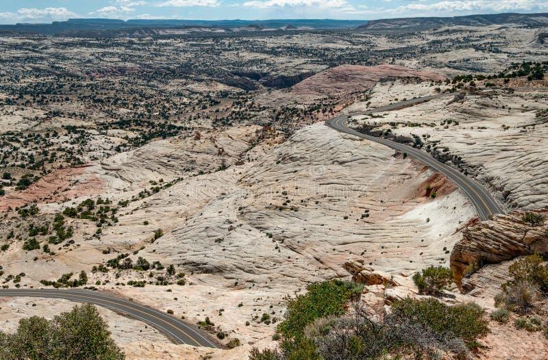 Szenischer Weg 12 in Utah lizenzfreie stockfotos