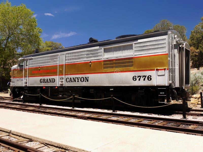 Szenischer Zug, Bahnhof Grand Canyon s, Vereinigte Staaten stockfoto