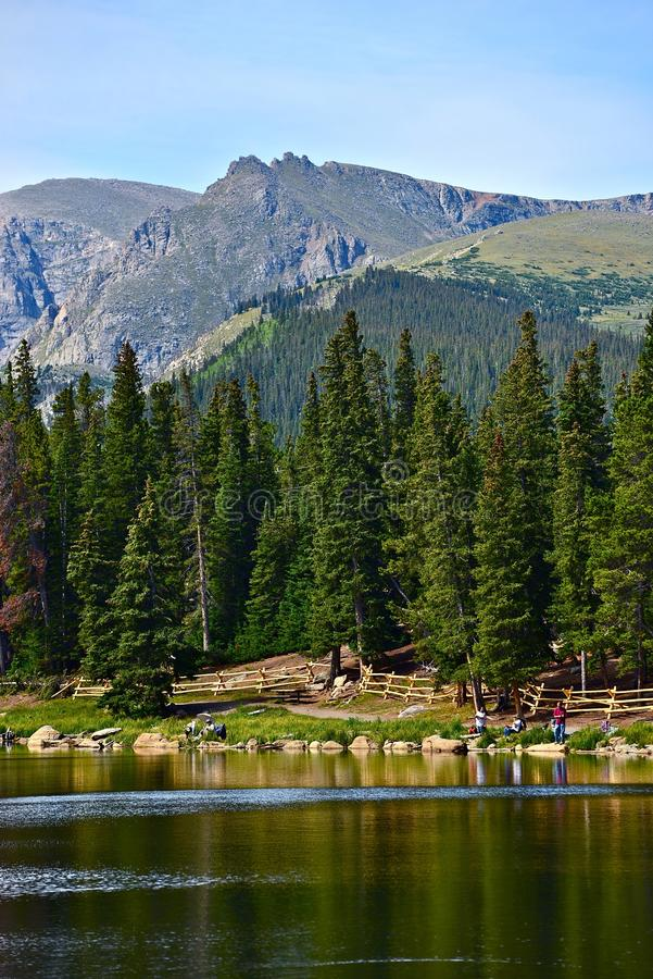 Szenisches Colorado Echo Lake stockbild