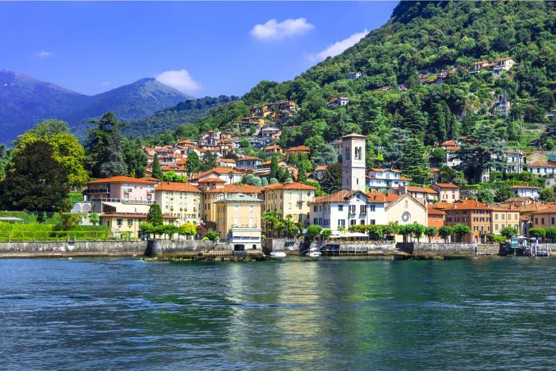 Szenisches Dorf Torno - Lago di Como, Italien lizenzfreies stockbild