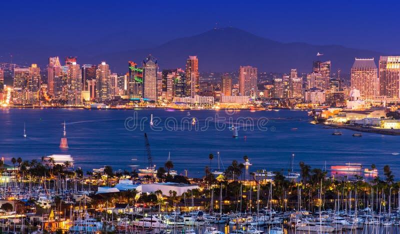 Szenisches San Diego Panorama lizenzfreie stockfotos