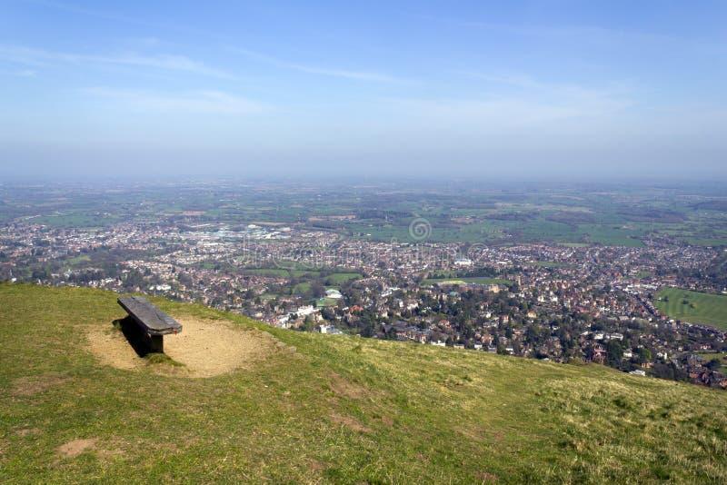 Szenisches Worcestershire - die Malvern-Hügel lizenzfreies stockbild