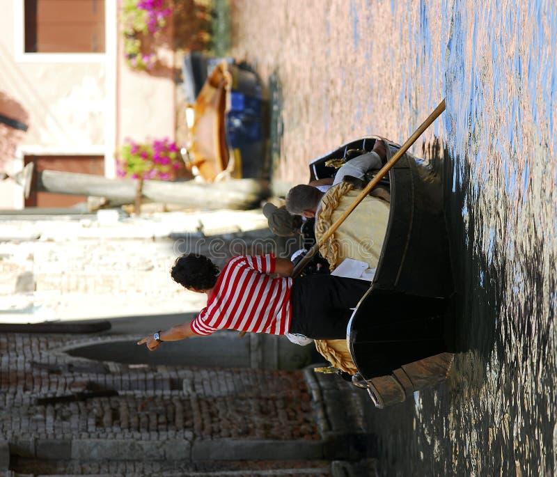 szereg gondoli Wenecji zdjęcia royalty free