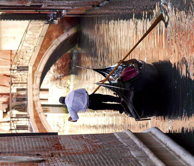 szereg gondoli Wenecji obrazy stock