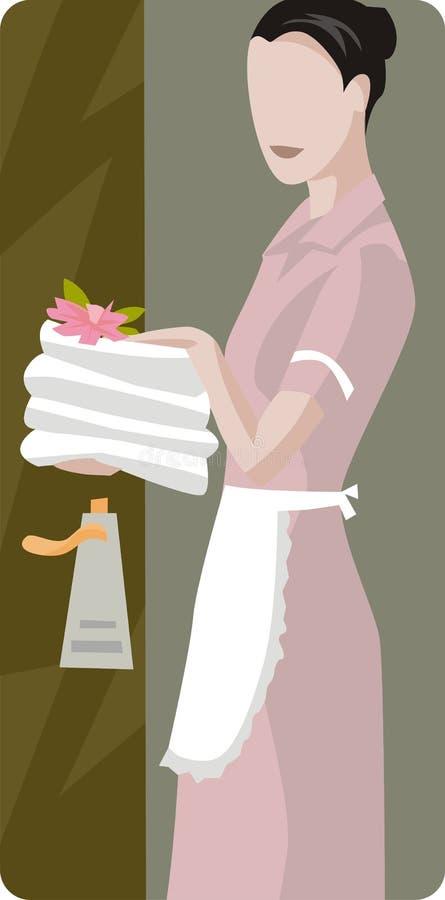 szereg ilustracyjne hotelowe ilustracja wektor