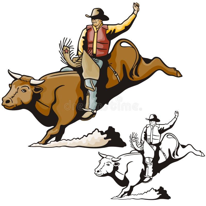 szereg ilustracyjne zachodnie ilustracja wektor