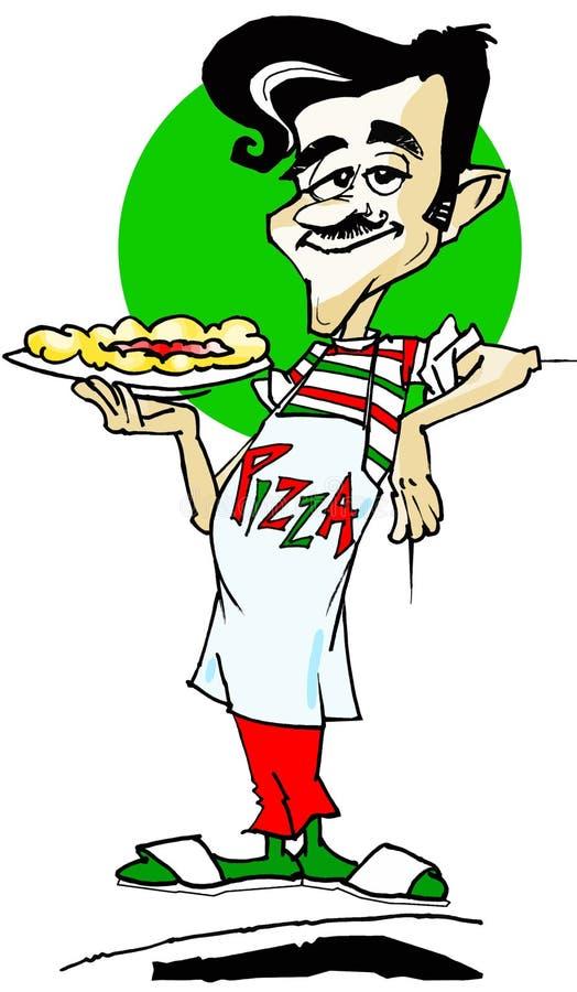 szereg pizz pracę ilustracji