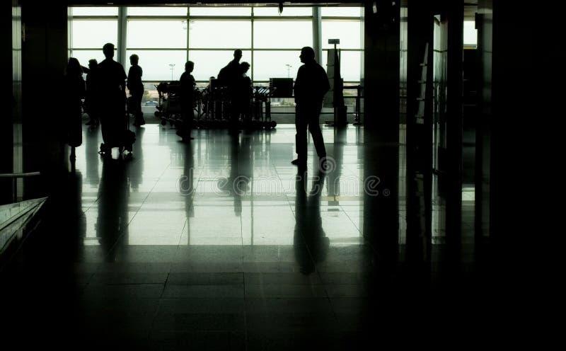 szereg portów lotniczych obraz stock