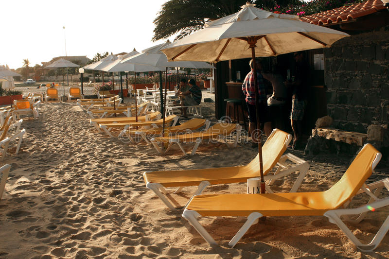 szeregowy na plaży obraz stock