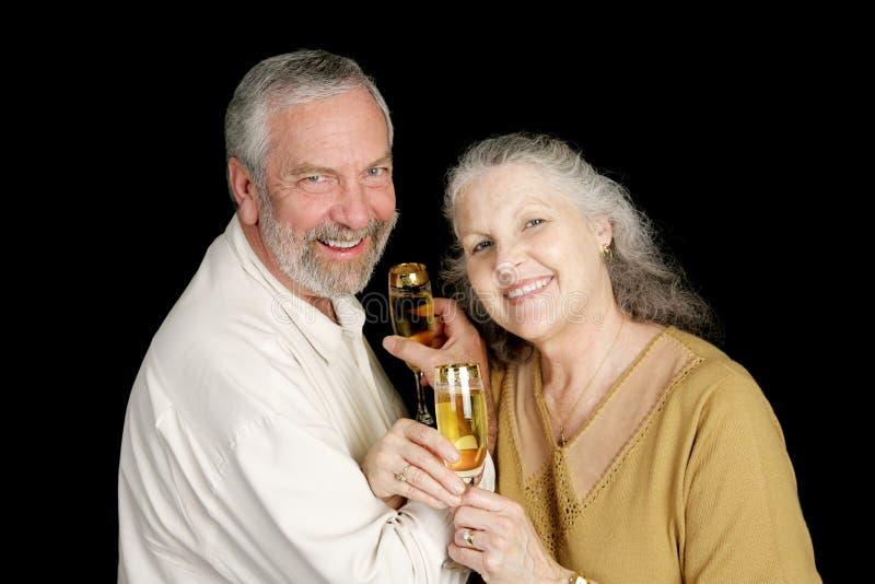 szeregowy szampańska toast zdjęcie royalty free