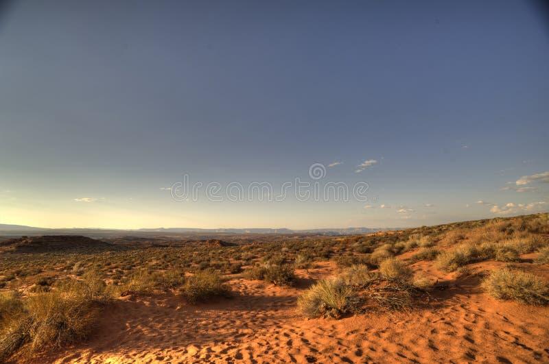 Szeroka pustynia przy Amerykańskim Południowym zachodem zdjęcie stock