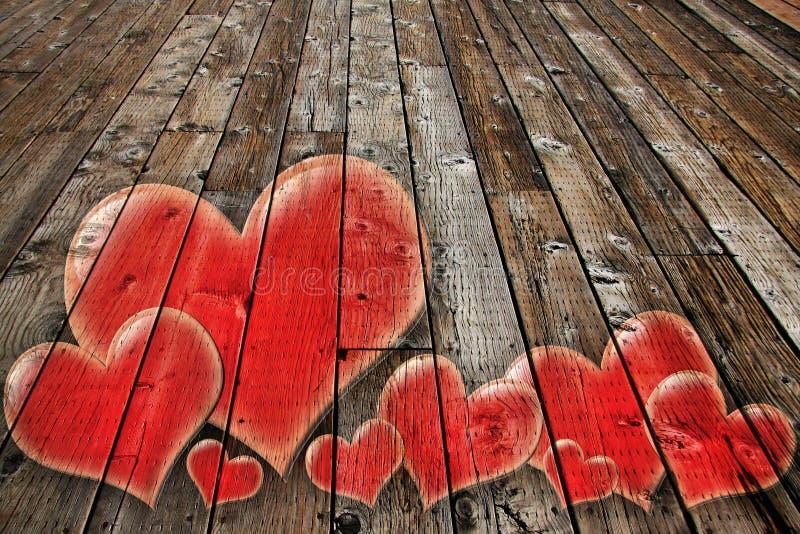 Szeroki deski boardwalk obraz stock