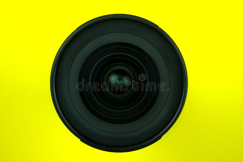 Szeroki kąta obiektyw dla SLR kamery zdjęcie stock